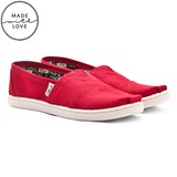 Toms Red Classic Slip On Shoes