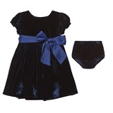 Ralph Lauren Navy Velvet Dress with Briefs