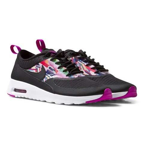 Black and Purple Air Max Thea Trainers