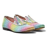 Minna Parikka Rainbow Glitter Bunny Ear Loafers