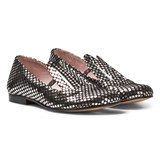 Minna Parikka Black and Silver Star Leather Bunny Ears Loafers