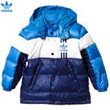adidas Originals Blue Colour Block Quilted Down Jacket
