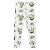 Tobias & The Bear White Friendly Fire Breathers Leggings