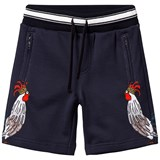 Dolce & Gabbana Navy Rooster Print Sweat Shorts