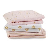 Aden + Anais Musy Pack of 3 Metallic Primrose And Gold