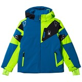 Spyder Blue, Green and Black Leader Ski Jacket