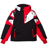 Spyder Black, Red and White Leader Ski Jacket
