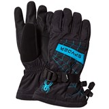 Spyder Black and Blue Overweb Ski Glove