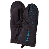 Spyder Black and Blue Mini Overweb Ski Mittens