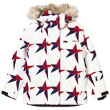 Perfect Moment Navy and Red Star Print Qanuk Pro III Ski Jacket