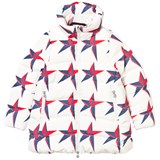 Perfect Moment Star Print Kaneq Longline Parka Jacket
