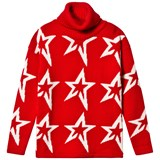 Perfect Moment Red Merino Wool Star Dust Sweater