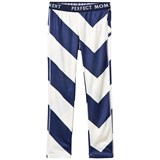 Perfect Moment Navy and White Stripe Super Thermal Leggings