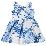 David Charles Ivory and Blue Floral Dress