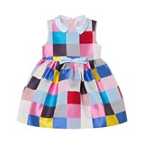 Simonetta Multi Square Jacquard Dress