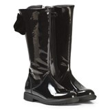 Lelli Kelly Diane Tall Black Patent Bow Boots