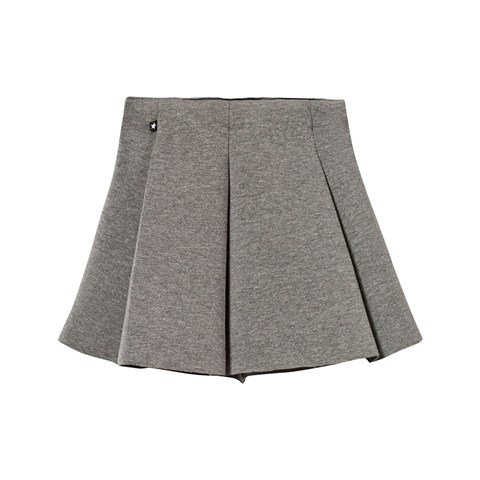 Molo Bell Skirt In Grey Melange