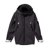 Molo Hogan Soft Shell Jacket In Almost Black