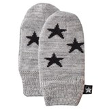 Molo Snowflake Mittens in Grey Melange