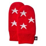 Molo Snowflake Mittens In True Red