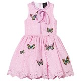 Love made Love Pink Lace Butterfly Embroidered Dress