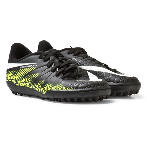 Black Junior HyperVenom Phelon II Turf Boots
