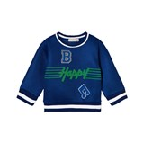 Stella McCartney Kids Blue B Happy Musical Note Mesh Sweatshirt