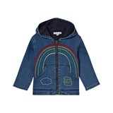 Stella McCartney Kids Bubba Denim Jacket with Rainbow Embroidery