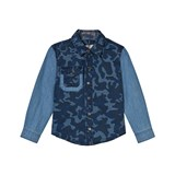 Stella McCartney Kids Blue Camo Print Shirt