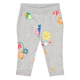 Stella McCartney Kids Grey Melange Floral Print Trousers