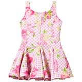 Kate Mack - Biscotti Pink Floral and Gingham Check Scuba Dress
