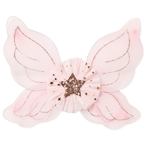 Kate Mack - Biscotti Pink and Gold Glitter Fairy Wings