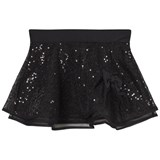 Mirella Black Sequin Tulle Skirt with Bow