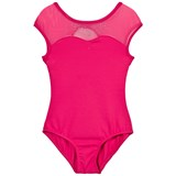 Bloch Hot Pink Cygni Bow Back Cap Sleeve Leotard