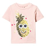 Stella McCartney Kids Pink Tee with Pineapple Print