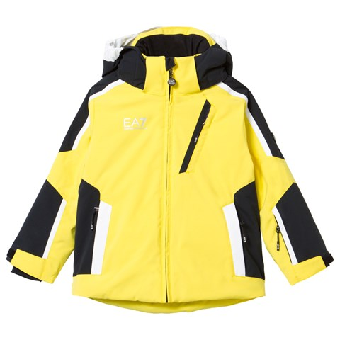Yellow and Black Klingler Colour Block Ski Jacket