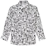 Dolce & Gabbana White Scribble Musical Instrument Shirt