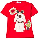 Dolce & Gabbana Red Mimmo Applique Tee with Flap Sunglasses