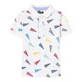 Tommy Hilfiger White Flag Printed Polo