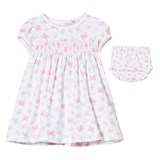 Kissy Kissy White Butterfly Smocked Dress