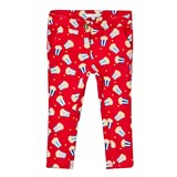 Little Marc Jacobs Red Popcorn Print Milano Trousers