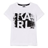 Karl Lagerfeld Kids White Karl Branded Tee