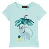Catimini Mint Green Jungle Animal Print Tee