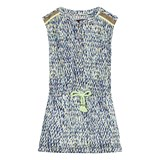 Catimini Navy and Green Multi Print Dress