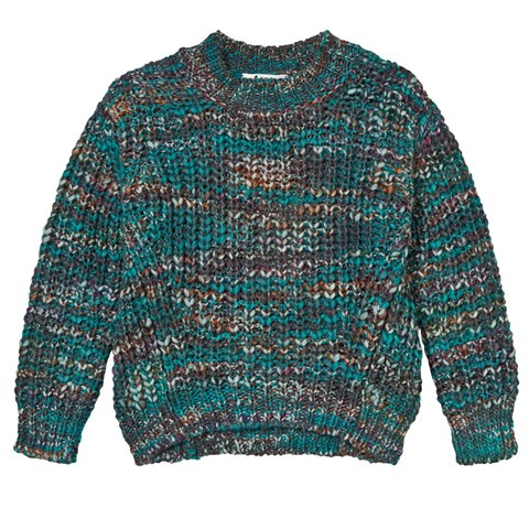 Turquoise Mix Mini Zora Sweater