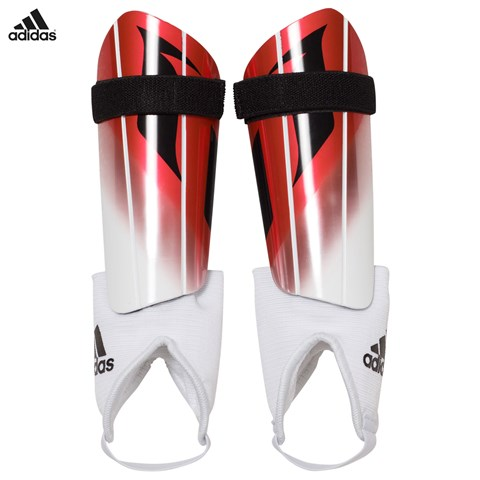 Red and White Messi 10 Shin Guards