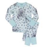 Beau & Rooster Canal Blue Night Owl Pyjamas