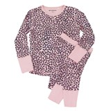Beau & Rooster Coral Blush Pink Leopard Pyjamas