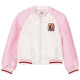 MSGM Pink Embroidered and Beaded Toucan Bomber Jacket