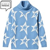 Perfect Moment Blue Merino Wool Star Dust Sweater